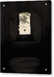 Old Window Acrylic Print by Vanessa Benson