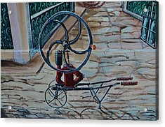 Old Wine Pump Acrylic Print by Dany Lison