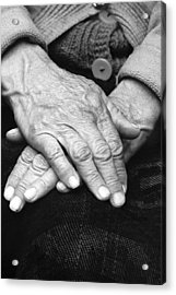 Old Woman's Hands Acrylic Print by Emanuel Tanjala