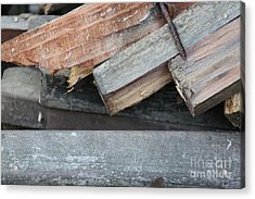 Old Wood Acrylic Print by Marilyn West