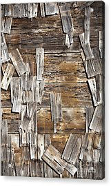 Old Wood Shingles On Building, Mendocino, California, Ca Acrylic Print by Paul Edmondson