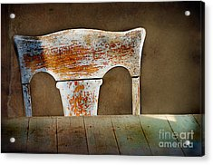 Old Wooden Chair Acrylic Print