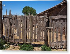Old Wooden Fence Gate Acrylic Print by Thom Gourley/Flatbread Images, LLC