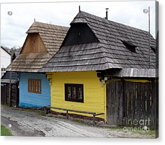 Acrylic Print featuring the photograph Old Wooden Homes by Les Palenik
