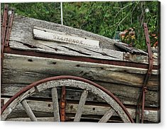 Acrylic Print featuring the photograph Old Wooden Wagon by Trever Miller