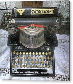 Old Woodstock Typewriter Acrylic Print