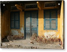 Old Yellow House In Vietnam Acrylic Print by Tanya Polevaya