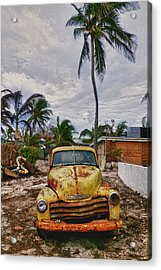 Old Yellow Truck Florida Acrylic Print by Garry Gay