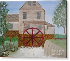 Ole' Grist Mill Acrylic Print by Dawn Harrold