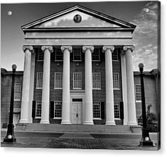 Ole Miss Lyceum Black And White Acrylic Print by Joshua House