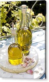 Olive Oil Acrylic Print by Erika Craddock