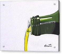 Olive Oil Acrylic Print by Kayleigh Semeniuk