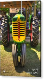 Acrylic Print featuring the photograph Oliver Crop Row 77 by Trey Foerster