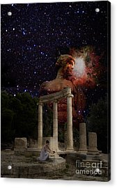 Olympia's Temple Acrylic Print by Pavlos Vlachos