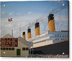 Olympic At Ocean Dock Acrylic Print by James McGuinness