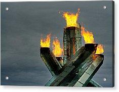 Olympic Cauldron Acrylic Print by Sandra Sigfusson