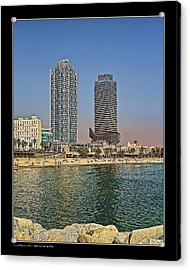 Acrylic Print featuring the photograph Olympic Harbor Towers by Pedro L Gili