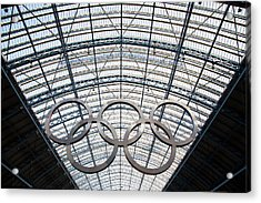 Olympic Rings At St. Pancras Acrylic Print