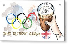 Olympic Rings Acrylic Print by Mark Armstrong