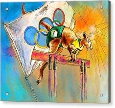 Olyver Acrylic Print by Miki De Goodaboom