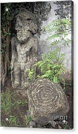 Ometepe Sculptures Nicaragua Acrylic Print by John  Mitchell