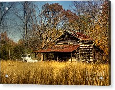 On A Back Road Acrylic Print by Benanne Stiens