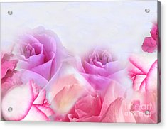 On A Bed Of Roses Acrylic Print