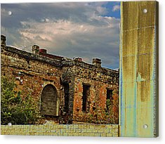 Acrylic Print featuring the photograph On A Downtown Street In Southwest Texas by Louis Nugent