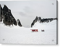 Acrylic Print featuring the photograph On A Glacier by Gary Rose