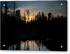 On A Summers Night Acrylic Print by Gary Smith