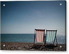 On Brighton Beach Acrylic Print by SVGiles
