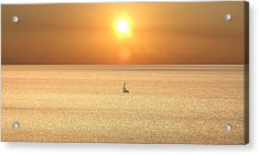 On Golden Seas Acrylic Print