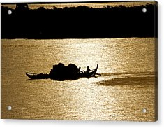 On Golden Waters Acrylic Print