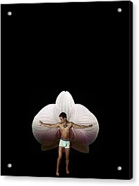 On Orchid Wings Acrylic Print by Michael Taggart