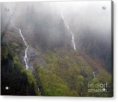 On Snoqualmi Pass Acrylic Print by Erica Hanel