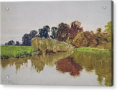 On The Arun Stoke Sussex  Acrylic Print by George Vicat Cole