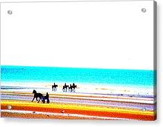 On The Beach Acrylic Print by Amanda Pillet