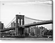 On The Brooklyn Side Acrylic Print by Bill Cannon