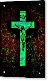 Acrylic Print featuring the photograph On The Cross by David Pantuso