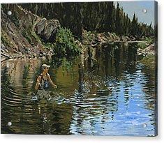 On The Deadwood River Acrylic Print