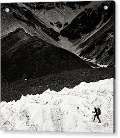 On The Glacier Acrylic Print by Konstantin Dikovsky
