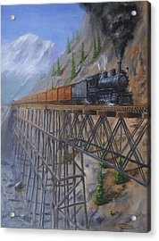 On The High Line Acrylic Print by Christopher Jenkins