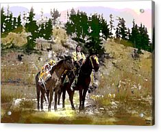 Acrylic Print featuring the mixed media On The Move by Charles Shoup