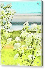 Acrylic Print featuring the digital art On The Mudflats Of Pegwell Bay by Steve Taylor