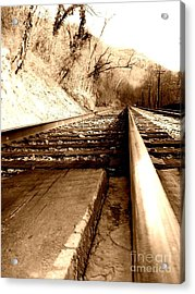 Acrylic Print featuring the photograph On The Rail by Amy Sorrell