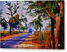 Acrylic Print featuring the photograph On The Road To Jaipur by Rick Bragan
