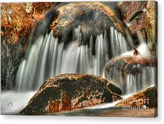 On The Rocks Acrylic Print by Darren Fisher