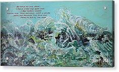 On The Rocks Acrylic Print by Rita Brown