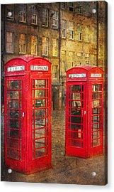 On The Streets Of Edinburgh  Acrylic Print by Svetlana Sewell