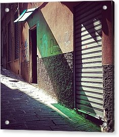 On The Sunny Side Of The Street #italy Acrylic Print